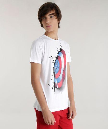Camiseta Capitão América Branca