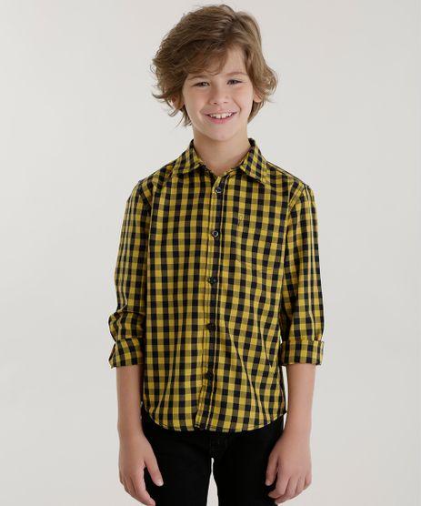 Camisa-Xadrez-Amarela-8439905-Amarelo_1