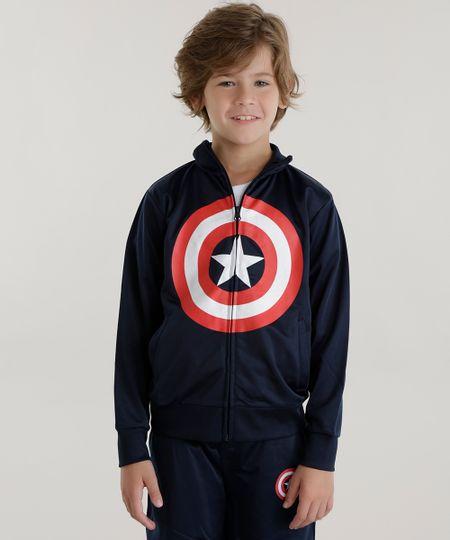 Blusão Capitão América Azul Marinho