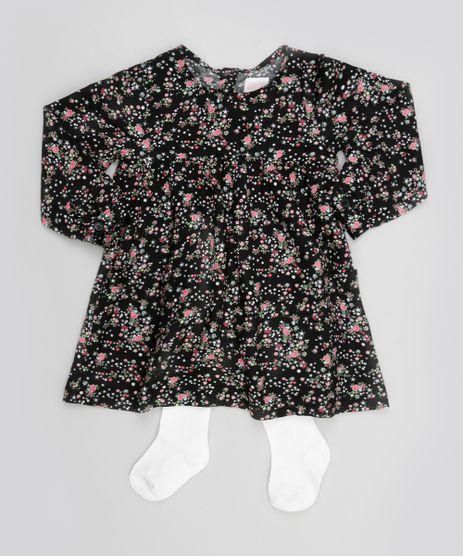 Vestido-Estampado-Floral---Meia-Calca-Preto-8471416-Preto_1