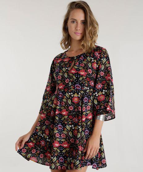 Vestido-Estampado-Floral-Preto-8580515-Preto_1