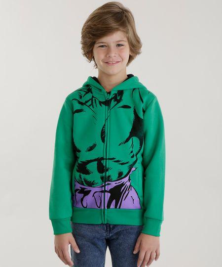 Blusão Hulk em Moletom Verde