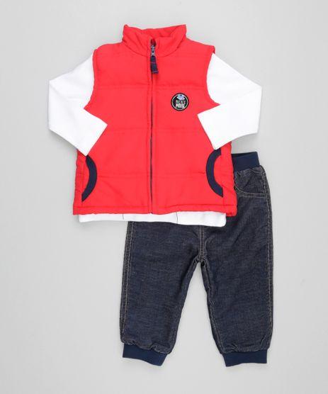 Conjunto-Mickey-de-Colete-Vermelho---Camiseta-Off-White---Calca-Jeans-Azul-Marinho-8448129-Azul_Marinho_1