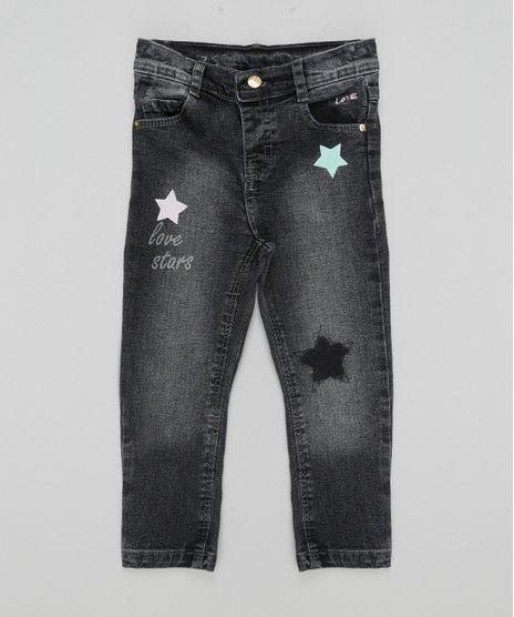 Calca-Jeans-com-Estampa-de-Estrelas-Preta-8570667-Preto_1