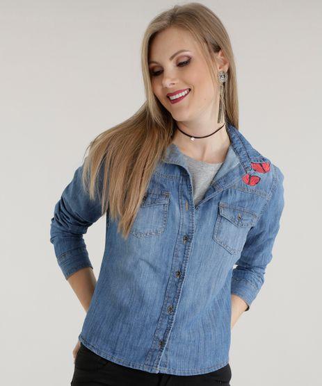 Camisa-Jeans-Bordada-Azul-Medio-8565307-Azul_Medio_1
