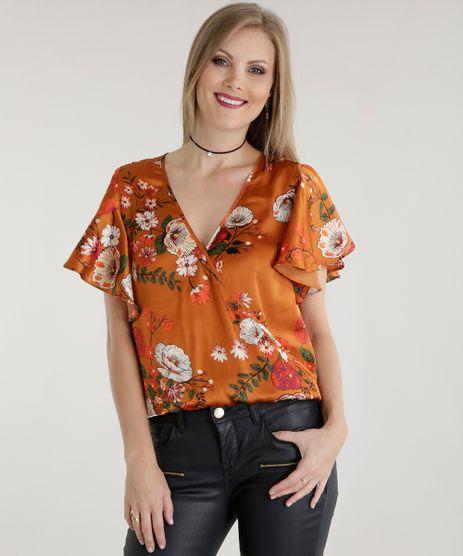 Blusa-Acetinada-Estampada-Floral-Caramelo-8541074-Caramelo_1