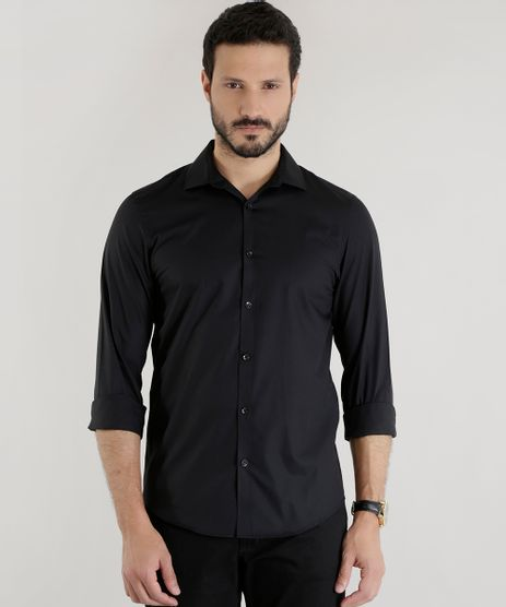 Camisa-Slim-Preta-7683136-Preto_1