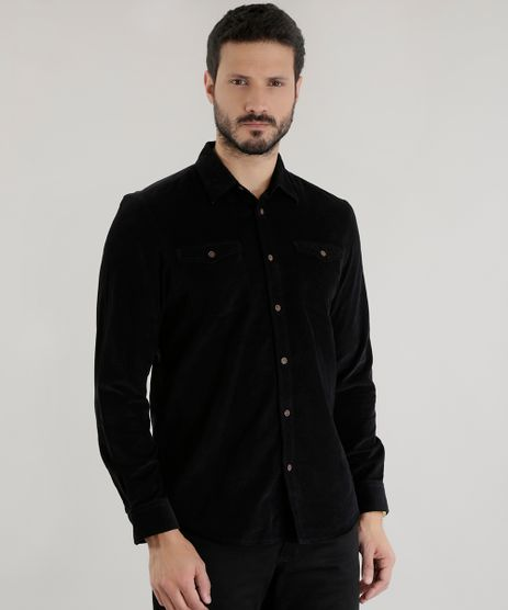 Camisa-Comfort-em-Veludo-Cotele-Preta-8455398-Preto_1