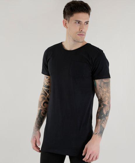 Camiseta-Longa-com-Bolso-Preta-8578504-Preto_1