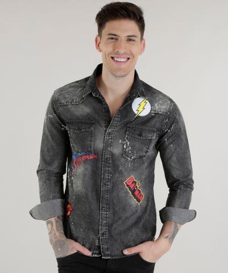 Camisa-Jeans-Liga-da-Justica-Preta-8606115-Preto_1