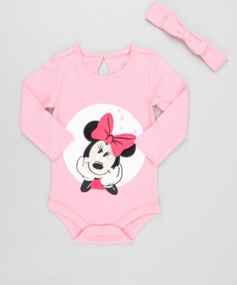 Body-Minnie-em-Algodao---Sustentavel---Faixa-de-Cabelo-Rosa-8489116-Rosa_1