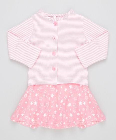 Conjunto-de-Vestido-Estampado---Cardigan-Listrado-em-Algodao---Sustentavel-Rosa-Claro-8492128-Rosa_Claro_1