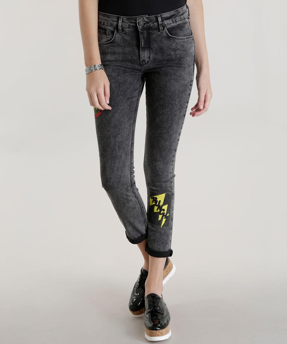 Calca-Jeans-Skinny-Mulher-Maravilha-Preta-8584603-Preto 1 ce107797fde37