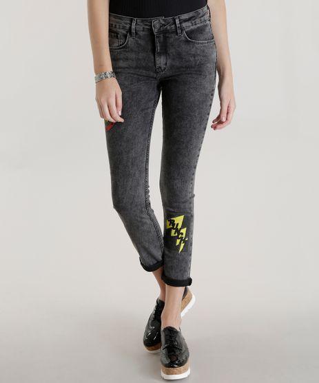 Calca-Jeans-Skinny-Mulher-Maravilha-Preta-8584603-Preto_1