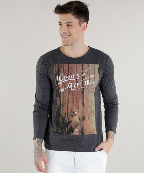 Camiseta--Woods-Explorer--Cinza-Mescla-Escuro-8576642-Cinza_Mescla_Escuro_1