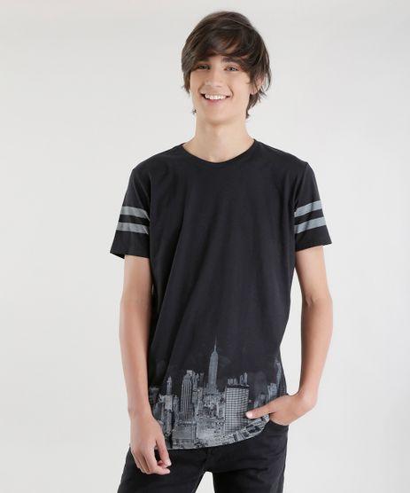 Camiseta-Longa-com-Estampa-Preta-8625066-Preto_1