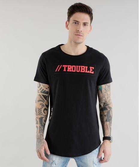 Camiseta-Longa--Trouble--Preta-8606591-Preto_1