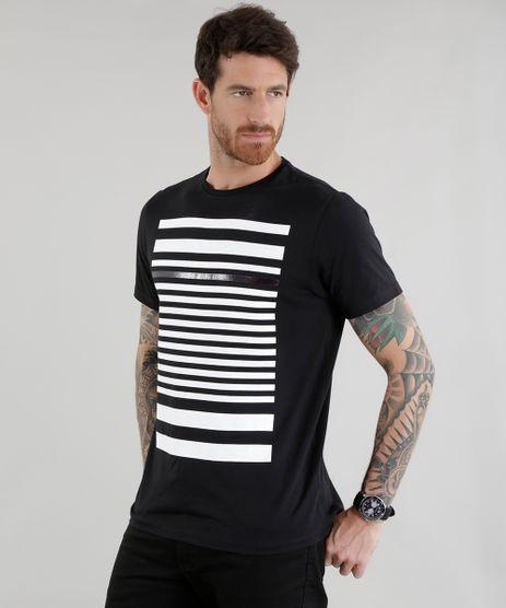Camiseta-com-Estampa-de-Listras-Preta-8585043-Preto_1
