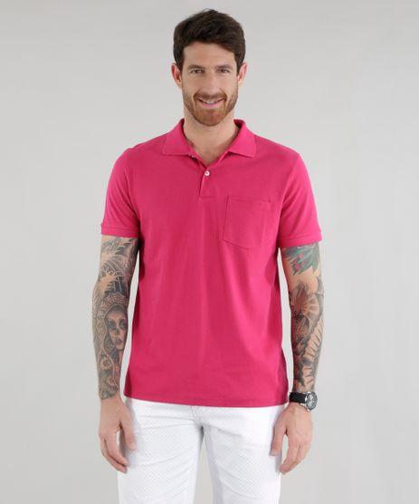 Polo-em-Piquet-com-Bolso-Rosa-Escuro-8500997-Rosa_Escuro_1