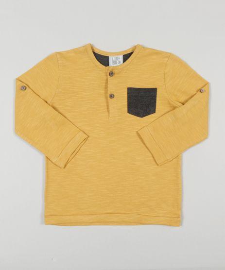 Camiseta-Flame-Basica-com-Bolso-Amarelo-Escuro-8573115-Amarelo_Escuro_1