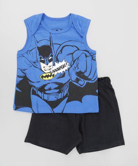 Conjunto-Batman-de-Regata-Azul---Bermuda-em-Moletom-Preta-8611957-Preto_1