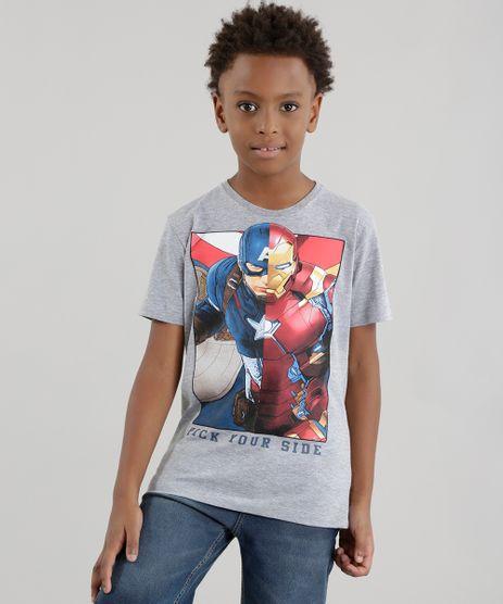 Camiseta-Capitao-America-e-Homem-de-Ferro-Cinza-Mescla-8589648-Cinza_Mescla_1