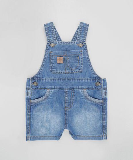 Macacao de menino c a for Jardineira jeans c a