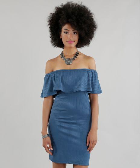 Vestido-Ombro-a-Ombro-Canelado-Azul-8632775-Azul_1