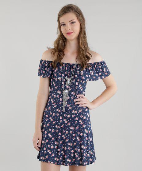 Vestido-Ombro-a-Ombro-Estampado-Floral-Azul-Marinho-8563228-Azul_Marinho_1
