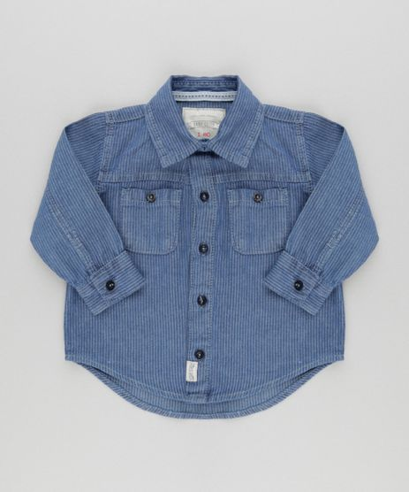 Camisa-Jeans-Listrada-Azul-Medio-8575653-Azul_Medio_1