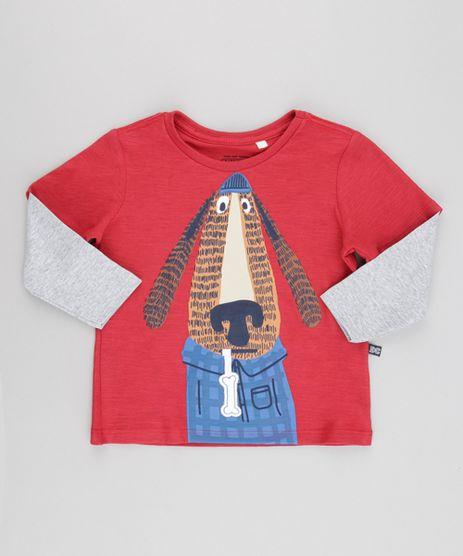 Camiseta--Cachorro--com-Patch-Vermelha-8615010-Vermelho_1