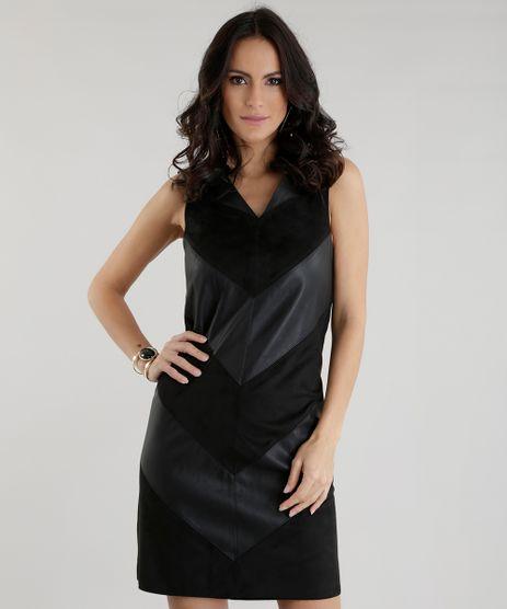 Vestido-com-Recortes-em-Suede-Preto-8499837-Preto_1