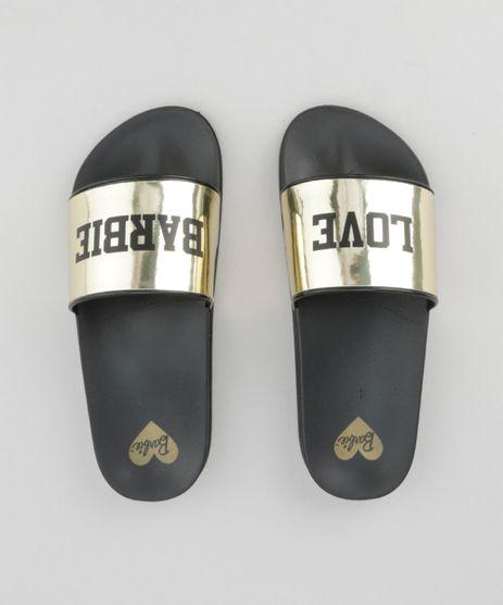 Chinelo-Slide-Barbie-Metalizado-Dourado-8634781-Dourado_1