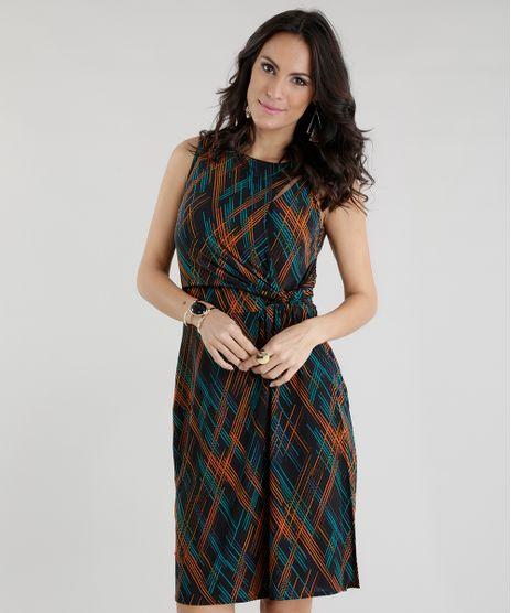 Vestido-Estampado-com-Transpasse-Preto-8535798-Preto_1