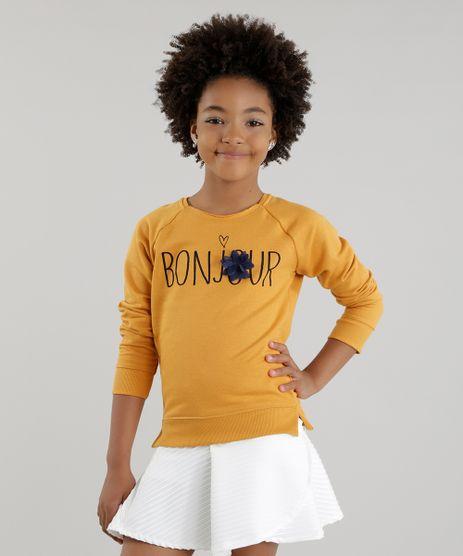 Blusao-em-Moletom--Bonjour--Amarelo-Escuro-8617702-Amarelo_Escuro_1