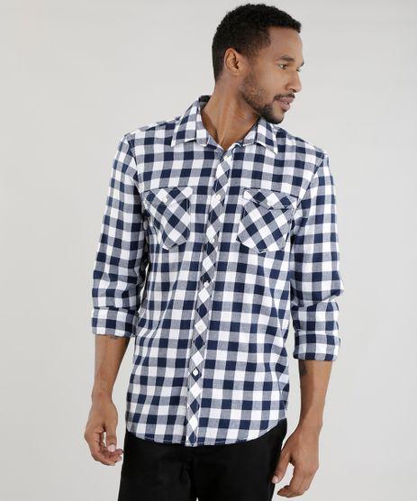 Camisa-Comfort-Xadrez-Flanelada-Azul-Marinho-8455386-Azul_Marinho_1