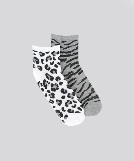 Kit-de-2-Meias-Estampadas-Animal-Print-Multicor-8535903-Multicor_1