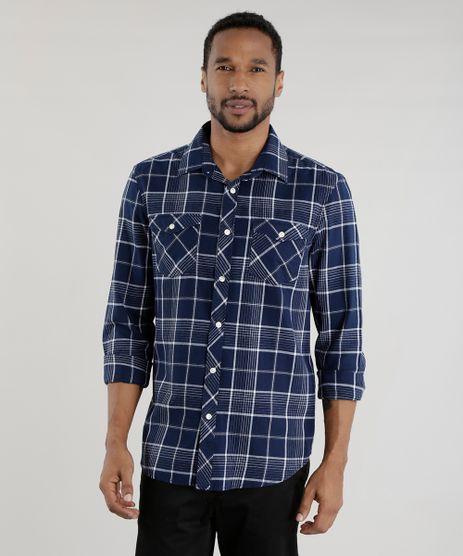 Camisa-Comfort-Xadrez-Flanelada-Azul-Marinho-8455392-Azul_Marinho_1