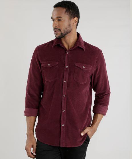 Camisa-Comfort-em-Veludo-Cotele-Vinho-8455404-Vinho_1