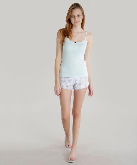 Pijama-Estampado-de-Poa-Verde-Claro-8551180-Verde_Claro_1