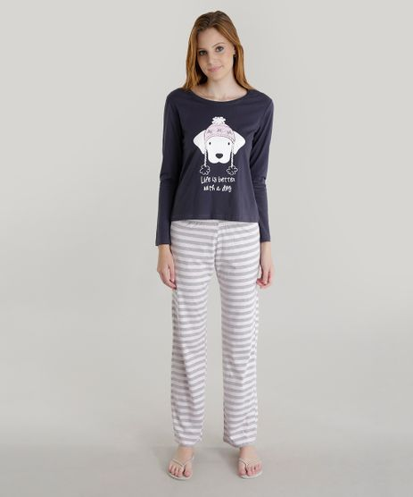 Pijama--Life-Is-Better-With-a-Dog--Azul-Marinho-8619690-Azul_Marinho_1