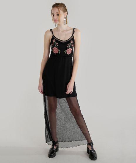 Vestido-Longo-em-Tule-com-Bordado-Preto-8599933-Preto_1