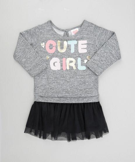 Vestido--Cute-Girl--com-Tule-Cinza-Mescla-8568292-Cinza_Mescla_1