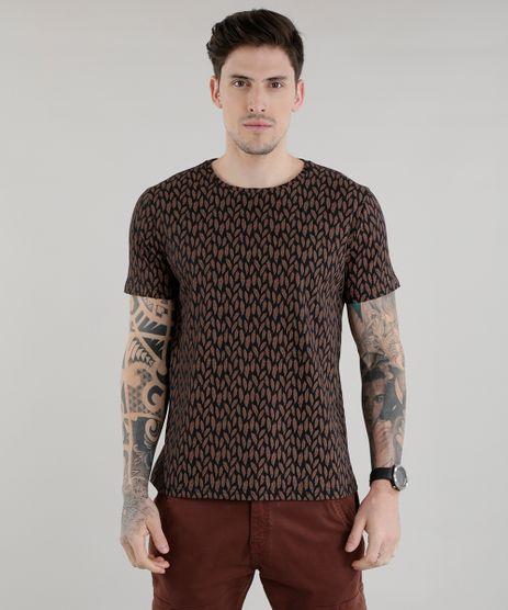 Camiseta-Estampada-de-Folhas-Preta-8603009-Preto_1