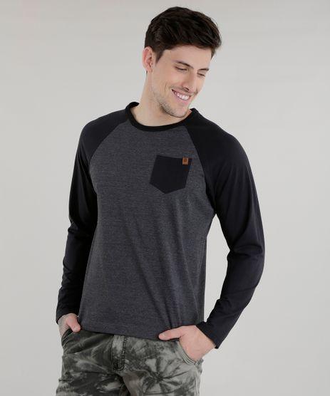 Camiseta-com-Bolso-Cinza-Mescla-Escuro-8582091-Cinza_Mescla_Escuro_1