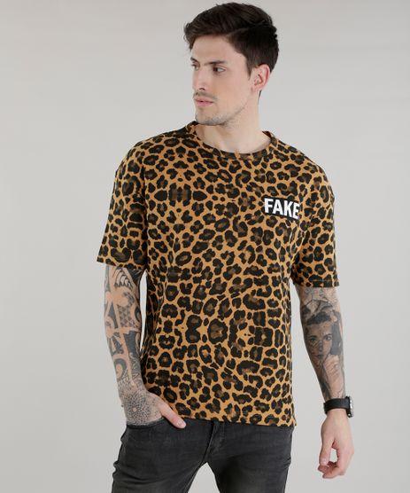 Camiseta-Longa-em-Moletom-Estampada-Animal-Print-Caramelo-8587571-Caramelo_1