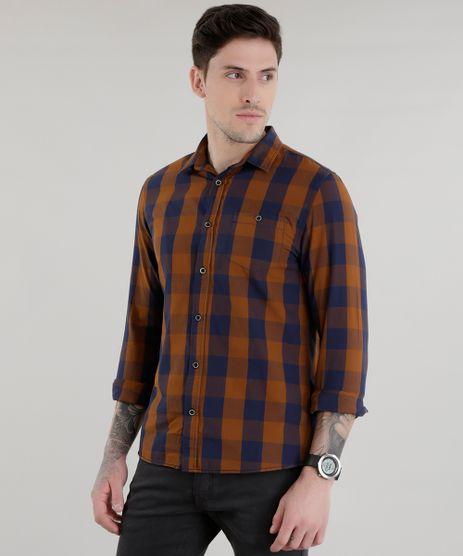Camisa-Xadrez-Marrom-8448831-Marrom_1