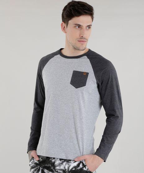 Camiseta-com-Bolso-Cinza-Mescla-Claro-8582091-Cinza_Mescla_Claro_1