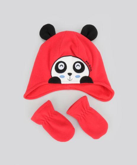 Kit-de-Gorro---Luva-em-Plush--Panda--Vermelho-8489942-Vermelho_1