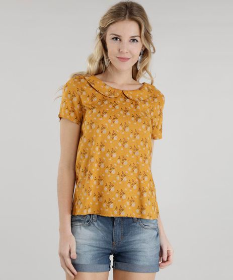 Blusa-Estampada-Floral-Amarelo-Escuro-8501109-Amarelo_Escuro_1